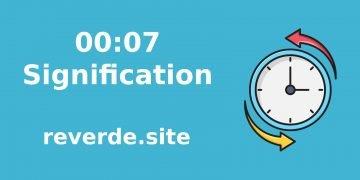 Signification du nombre 00:07 35
