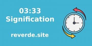 Signification du numéro 03:33 48