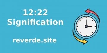 Signification du numéro 12.22 2