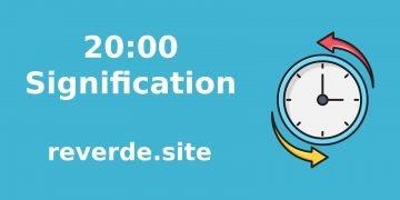 Signification du nombre 20:00 50
